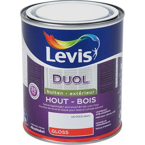 Levis lak Duol wit glans 750ml