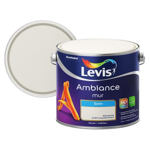 Levis muurverf 'Ambiance' eierschaal satijn 2,5L
