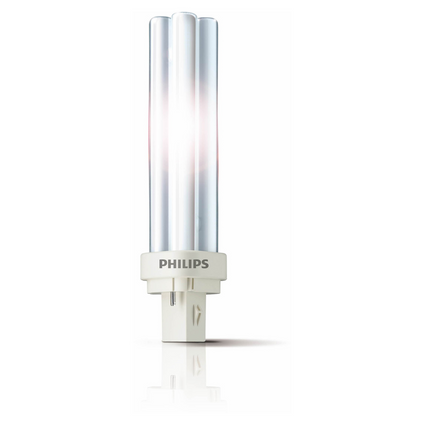 Philips spaarlamp PL-C 2-pins Master warm wit 827 18W