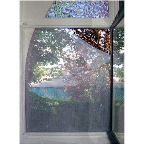 Moustiquaire pour fenêtre avec bande adhésive gris 1 x 1 m