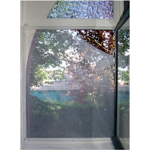 Moustiquaire pour fenêtre avec bande adhésive blanc 1,3 x 1,5 m