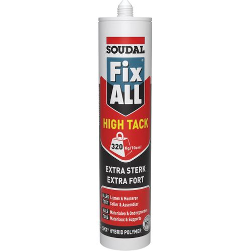 Soudal lijmkit Fix ALL High Tack wit 290ml