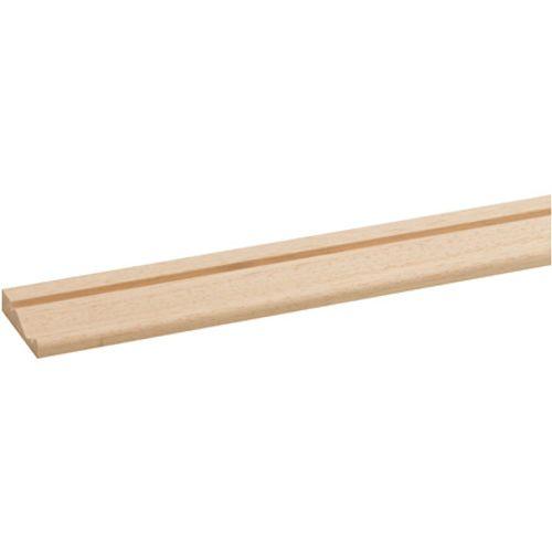 JéWé deurlijst hardhout wit 0,9x4,5x240cm