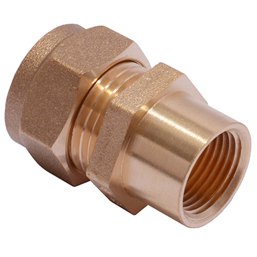 Sanivesk koppeling recht messing 1/2V x 15 mm