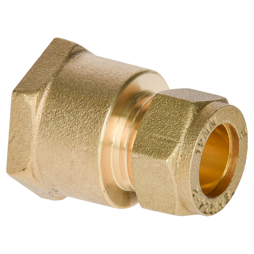 Sanivesk koppeling recht messing 3/4V x 15 mm