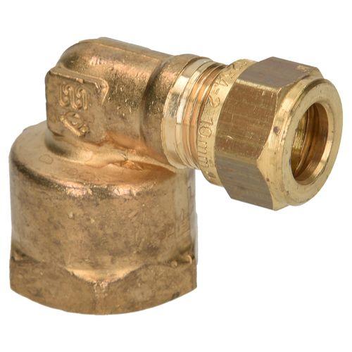 Coude à raccord compression et filet Sanivesk laiton 3/8 F x 12 mm