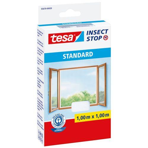 Moustiquaire pour fenêtre Tesa 'Standard' blanc 1 x 1 m