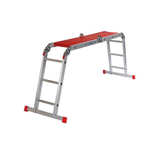 Altrex plooiladder 'Varitrex Plus' aluminium 4 x 3 treden