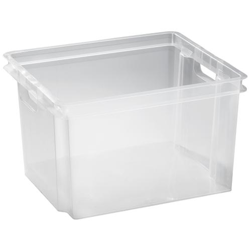 Keter opbergbox Crownest PVC transparant 30L