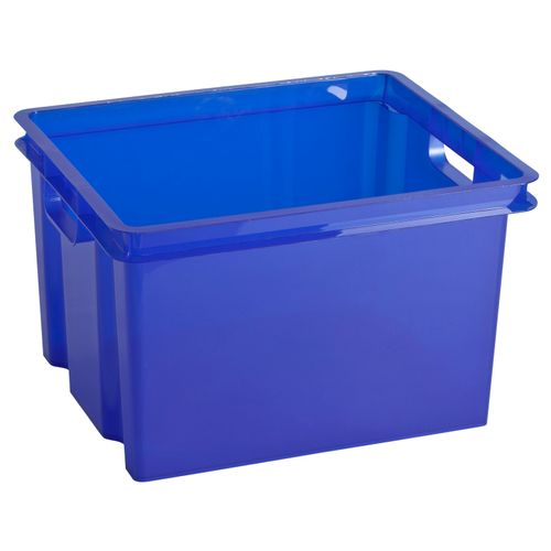 Keter opbergbox Crownest PVC laserblauw 30L
