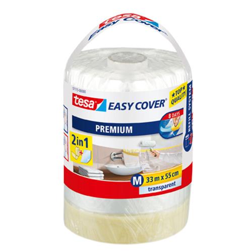 Recharge bâche de protection et ruban de masquage Tesa 'Easy Cover' transparent 33mx55cm