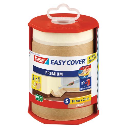Tesa afroller papier en afplakband 'Easy Cover' transparant 25mx18cm