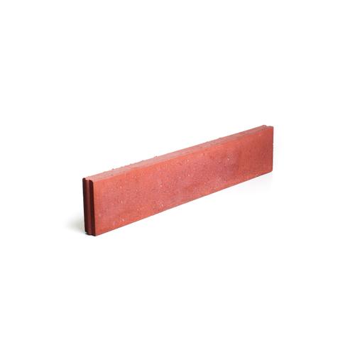 Coeck rechte boordsteen beton rood 100 x 20 x 6 cm