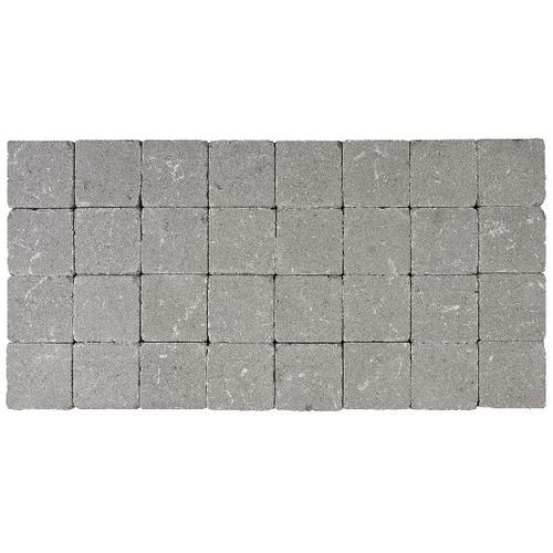 Klinker tambouriné gris 10X10X4cm