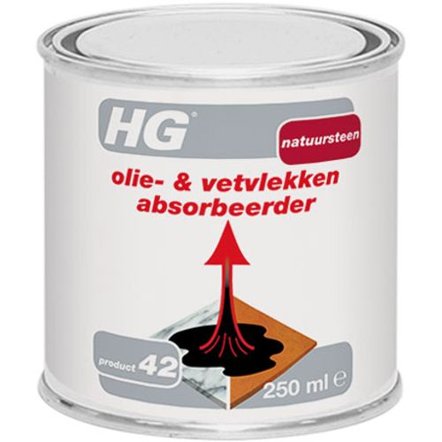 HG natuursteen olie- en vetvlekken absorbeerder 250ml