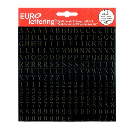 Pickup plakletters- en cijfers 'Eurolettering' goud 10 mm