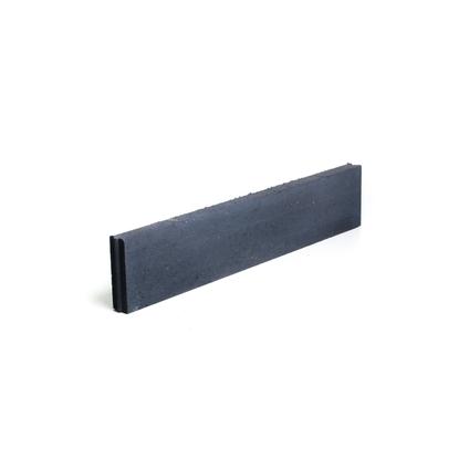 Coeck rechte boordsteen beton zwart 100 x 20 x 6 cm
