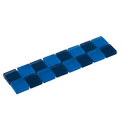 Listello Silk glas blauw 5x20cm