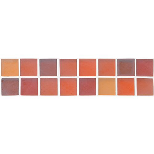 Listello Silk glas oranje 5x20cm