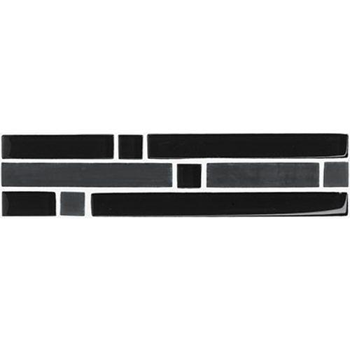 Listello Trent zwart 5x20cm