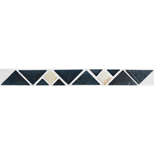 Listello Etna zwart 3x19cm