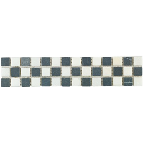 Listello Mosaico zwart 5x23,5cm