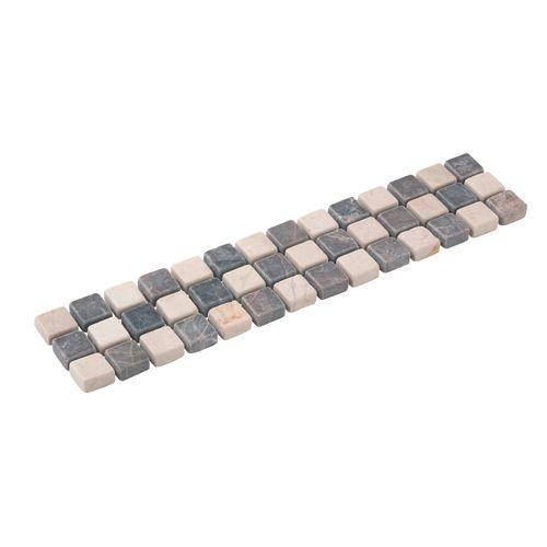Listello Mosaico bruin grijs 5x23,5cm