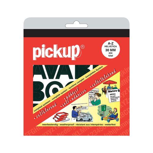 Pickup plakletters A-Z zwart 30mm