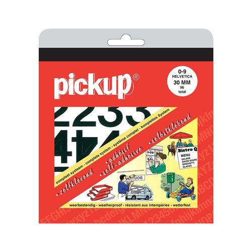 Pickup plakcijfers nul-negen zwart 30mm