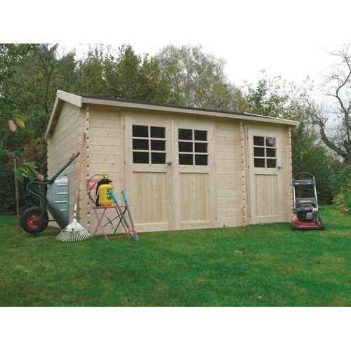 Solid tuinhuis Passage hout 418x298cm