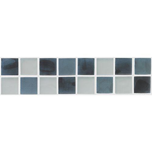 Listello Silk glas grijs 5x20cm