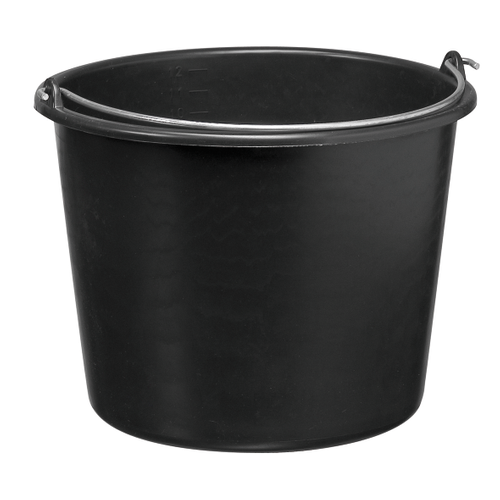 Varas bouwemmer zwart 20 L