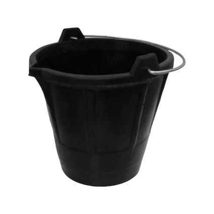 Varas bouwemmer zwart 12 L
