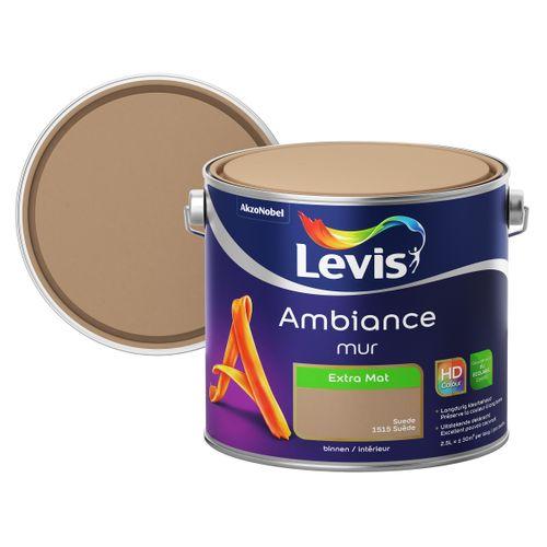 Peinture murale Levis Ambiance Mur suède extra mat 2,5L