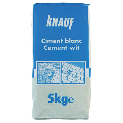 Ciment Knauf 'Portland' blanc 5 kg