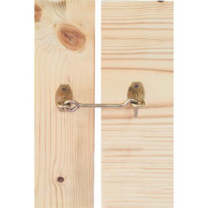 Crochet de contrevent sur platine Suki acier galvanisé 5,8 x 120 mm