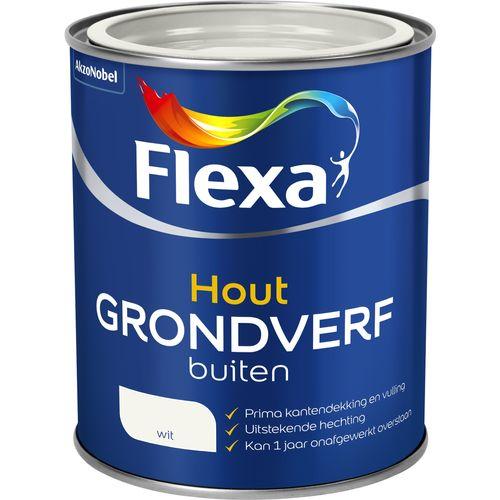 Flexa grondverf voor buiten wit 750ml