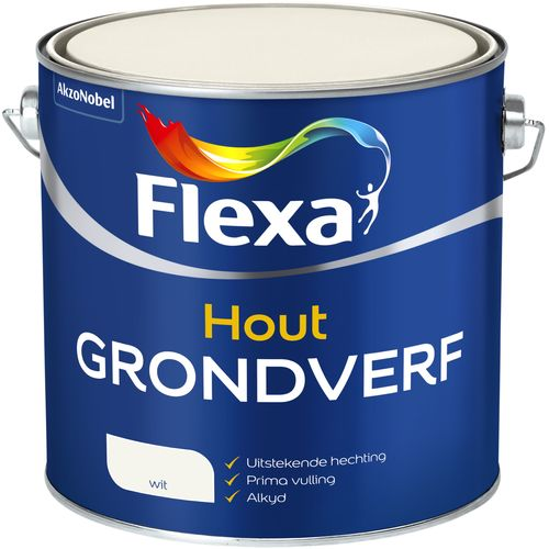 Flexa grondverf hout wit 2,5L
