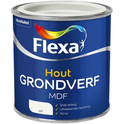 Flexa mdf grondverf wit 250ml