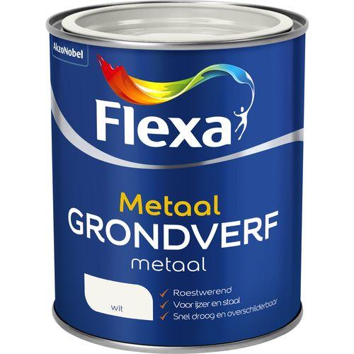 Flexa grondverf metaal wit 750ml