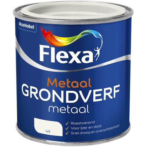 Flexa grondverf metaal wit 250ml
