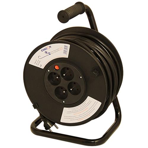 Enrouleur de câble Chacon 'H05VV-F 3G1,5' 40 m