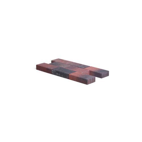 Pavé en béton Coeck 22x11x5cm rouge/noir chanfrein 3,5/5,5