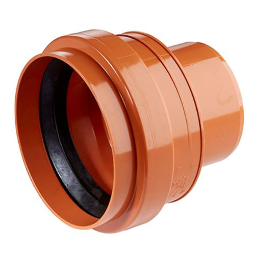 Martens overgangstuk riool PVC rood 110 mm