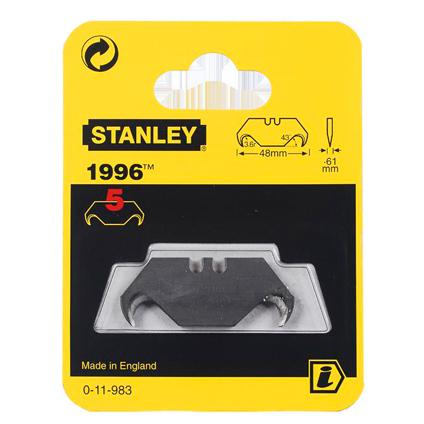 Lames de rechange affutées Stanley 5 pièces