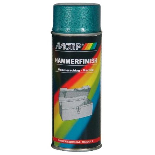 MoTip lak 'Hammerfinish' blauw hamerslag 400ml