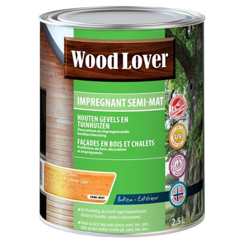 Lasure Wood Lover 'Impregnant semi - mat' chêne clair 690 - 2,5L