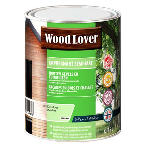 Lasure Wood Lover 'Impregnant semi - mat' incolore 001 - 750ml