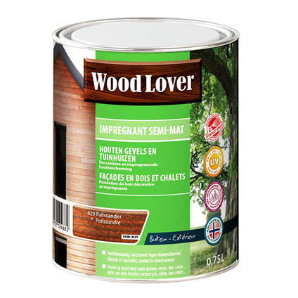 Lasure Wood Lover 'Impregnant semi - mat' palissandre 629 - 750ml