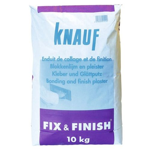 Enduit de collage et de finition Knauf 'Fix & Finish' 10 kg